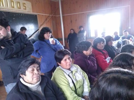 dirigentes mapuche y miembros de la comuna de San Pablo 4
